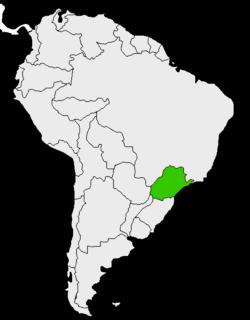 Mapa de Paraná en Sudamérica