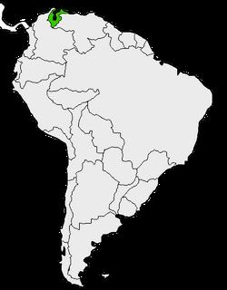 Mapa de Zulia en Sudamérica