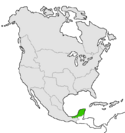Mapa de Yucatán en Norteamérica