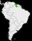 Mapa de Guyana en Sudamérica