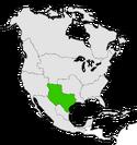 Mapa de Texas en Norteamérica