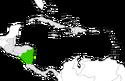 Mapa de Nicaragua en Centroamérica