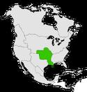 Mapa de Luisiana en Norteamérica