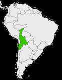 Mapa de Martinia en Sudamérica