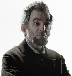 Abraham Lincoln played by Daniel Day-Lewis