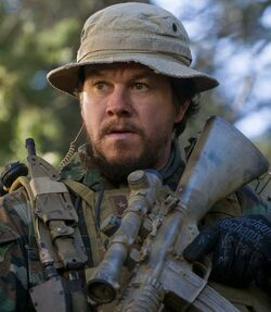 Marcus Luttrell played by Mark Wahlberg
