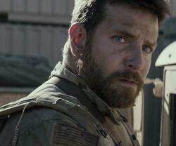 Chris Kyle played by Bradley Cooper