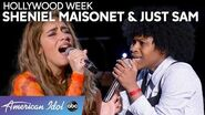 INSANE Vocals During Hollywood Duets Round from Just Sam and Sheniel Maisonet - American Idol 2020