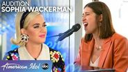 Naomi Star's Daughter Sophia Wackerman SHINES In Audition - American Idol 2020