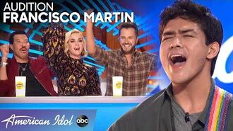 Lionel and Luke Try To Calm Francisco Martin's Nerves Before His Audition - American Idol 2020