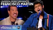 "Francisco Martin WOWs With Original Song ""Lover"" During This Unseen Moment - American Idol 2020"