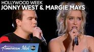 IDOL LOVEBIRDS Margie Mays and Jonny West Pair Up for an Adorable Duet - American Idol 2020