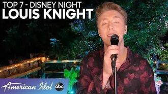 Charmer LOUIS KNIGHT Sings A Classic From The Lion King For Disney Night - American Idol 2020