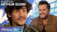 Luke Bryan Asks Idol Auditioner Arthur Gunn To Open For Him In Detroit - American Idol 2020