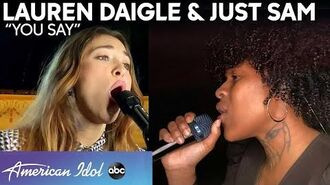 """Lauren Daigle RETURNS For An Inspiring Performance Of """"You Say"""" With Just Sam - American Idol 2020"""