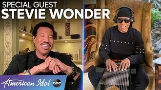 The LEGEND Stevie Wonder Talks To Lionel Richie About His Songwriting Method - American Idol 2020