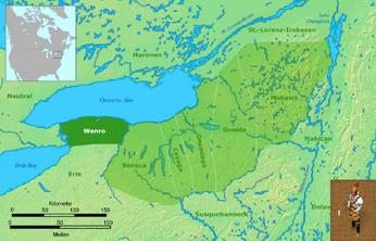Wenro-Territorium um 1630