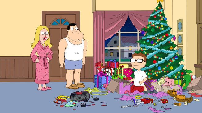 as the holidays approach steve becomes a brat and stan takes him to see his grandfather to be scared straight grandpa jack tells him the story of krampus - American Dad Christmas Episode