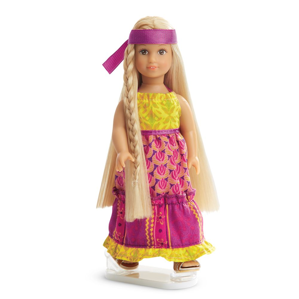 American Girl Doll Julie/'s Mixed Print Maxi Dress New! Retired Outfit Julie