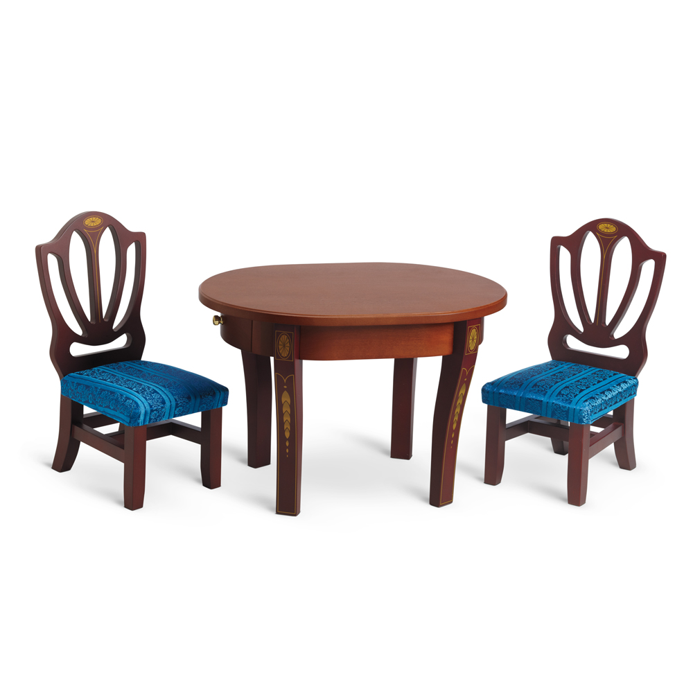 CarolineTableChairs. Carolineu0027s Tables and Chairs  sc 1 st  American Girl Wiki - fandom & Carolineu0027s Table and Chairs | American Girl Wiki | FANDOM powered by ...