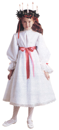 New American Girl Kirsten Larson Red Hair Ribbons Only for St Lucia Gown Outfit