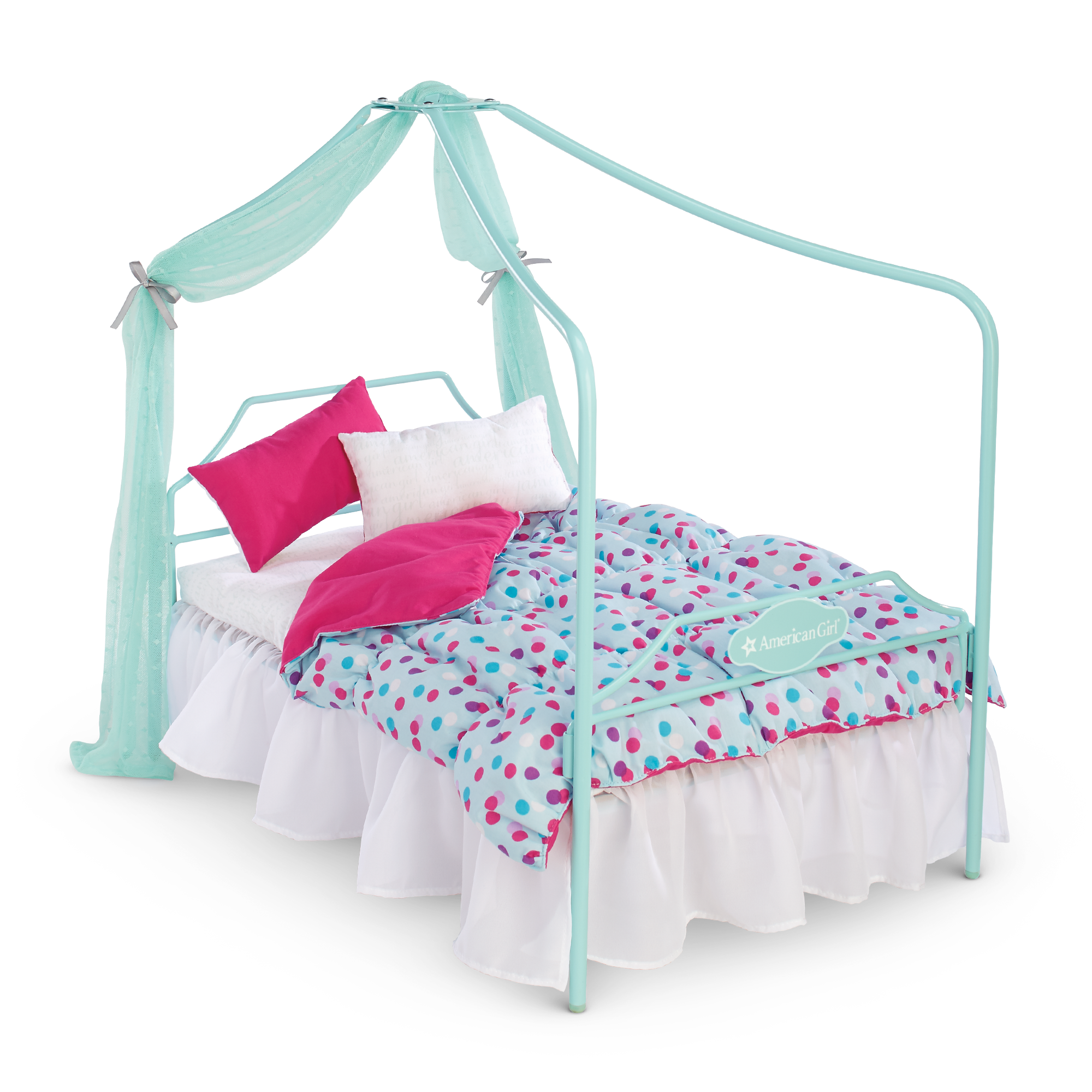 Canopy Bed And Bedding Set.