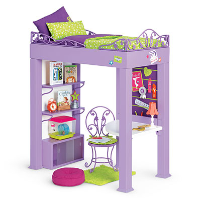 mckennas loft bed set - Beds For American Girl Dolls