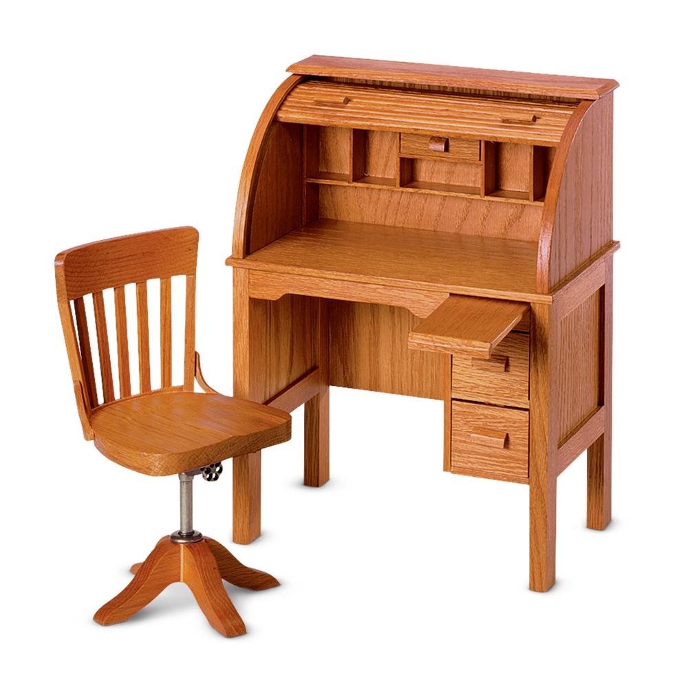 Outstanding Rolltop Desk And Swivel Chair American Girl Wiki Fandom Inzonedesignstudio Interior Chair Design Inzonedesignstudiocom