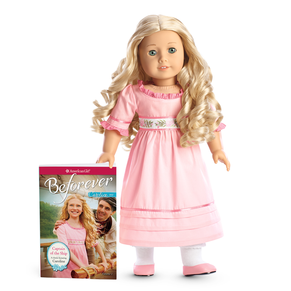 American Girl Charoline Abbott Pink Meet Dress for 18-inch Dolls