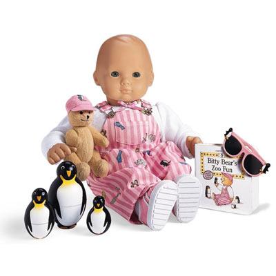 Bitty Baby American Girl white Wild Things Shirt /& pink penguin sunglasses