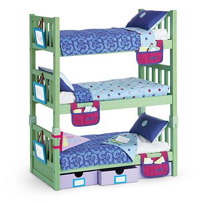 triplebunksetjpg - Beds For American Girl Dolls