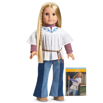American Girl Julie Albright Meet White Peasant Blouse Top Shirt Only for Doll