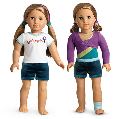 American Girl Doll of the Year McKenna Practice Wardrobe Gymnastics SHIRT ONLY