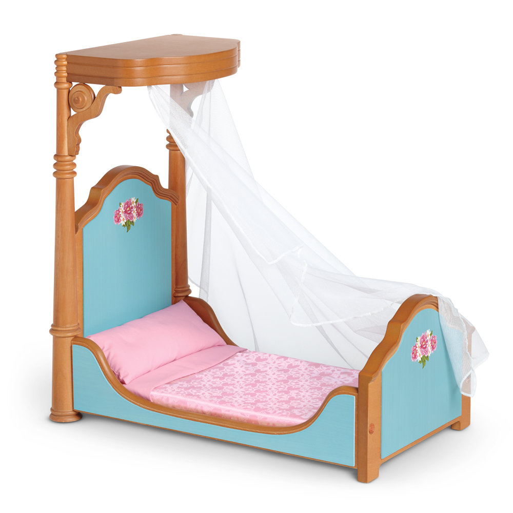 CecileBedBedding  sc 1 st  American Girl Wiki - Fandom & Half-Canopy Bed | American Girl Wiki | FANDOM powered by Wikia