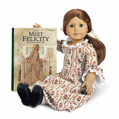 American Girl Doll Felicity Retired Meet Outfit Ivory Satin Ribbon