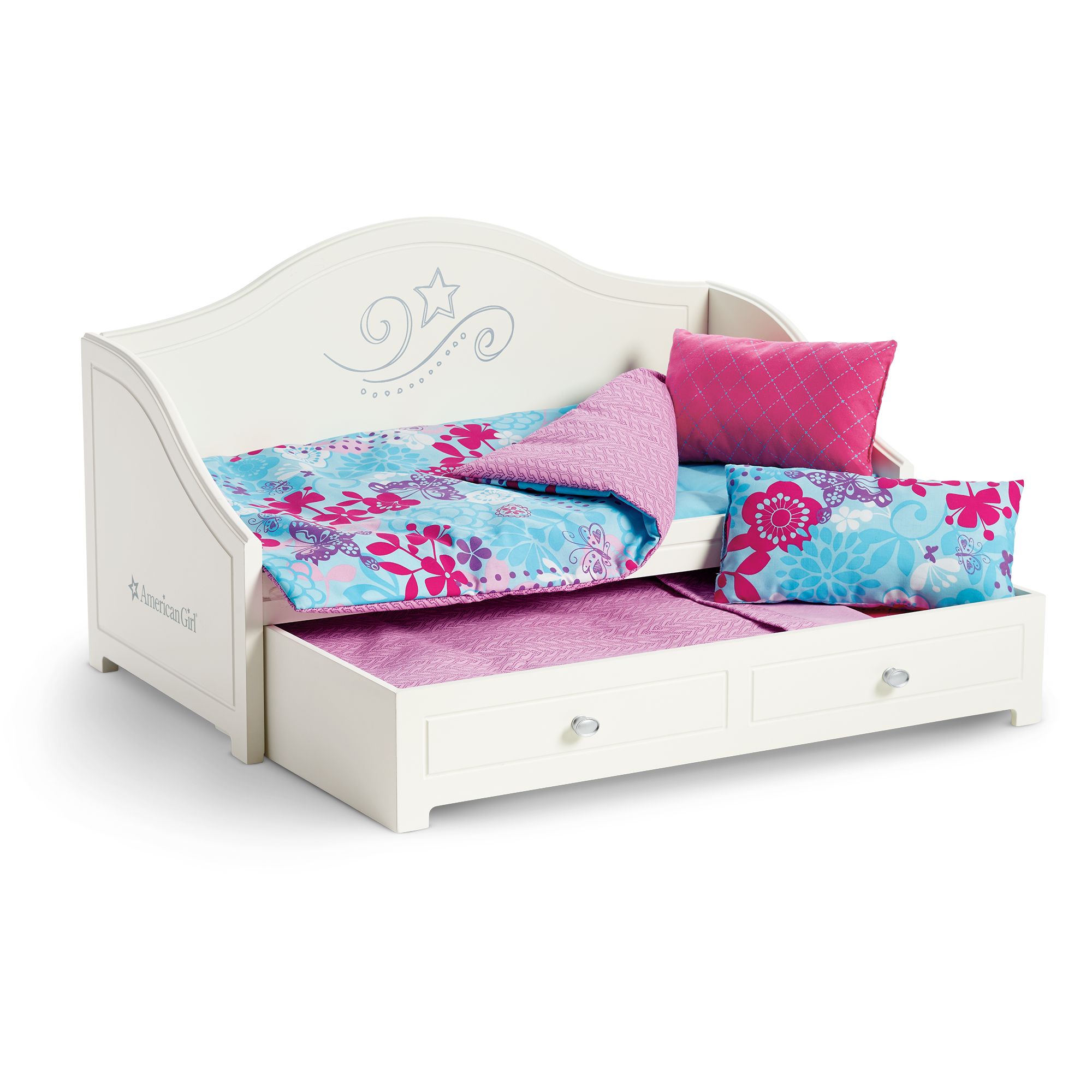 American Girl Trundle Bed And Bedding Set For Dolls Truly Me