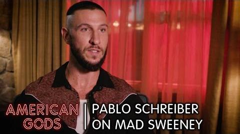 Pablo Schreiber on Mad Sweeney - American Gods