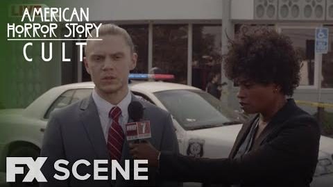 American Horror Story Cult Season 7 Ep. 10 Breaking News Scene FX
