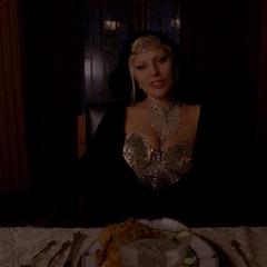 Графиня во время ужина с мужем. <small>(«<a href=