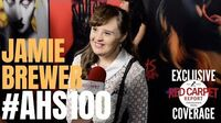 Jamie Brewer interviewed at FX Network's American Horror Story 100 Episodes Red Carpet AHSFX
