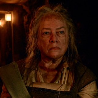 Kathy Bates as the re-enacted <a href=