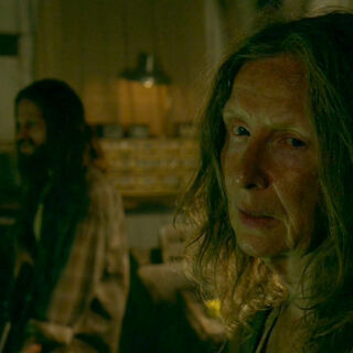 Frances Conroy in the role of the re-enacted <a href=