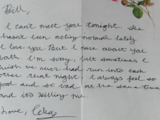 Celia's Love Letter to William Baxter