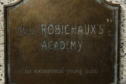 Miss R Academy plaque