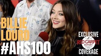 Billie Lourd interviewed at FX Network's American Horror Story 100 Episodes Red Carpet AHSFX
