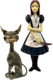 Alice and Cheshire figure