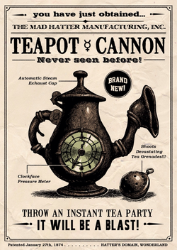 Teapot Cannon poster