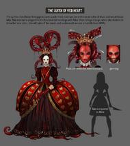 Queen of Red Heart Asylum concept