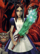 Alice holding wand