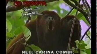 Alle alte Toyota Werbungen - Old Toyota Ads - mit Tiere - with animals, gorilla. Werbefilm. Werbung